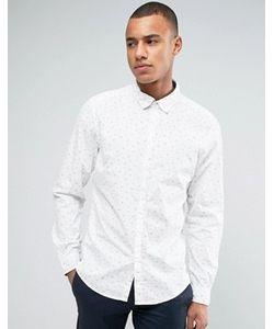 Esprit | Рубашка Узкого Кроя С Длинными Рукавами И Мелким Цветочным Принтом