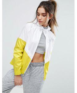 Nike | Бело-Желтая Ветровка С Капюшоном