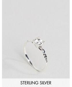 Asos | Серебряное Кольцо С Гравировкой И Отделкой Стразом