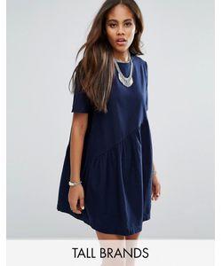 Noisy May Tall | Короткое Приталенное Платье С Асимметричным Дизайном