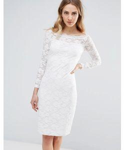 ICHI | Кружевное Облегающее Платье С Широким Вырезом