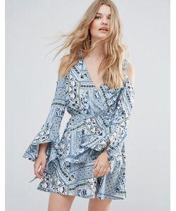 Influence | Платье С Вырезами На Плечах И Широкими Рукавами