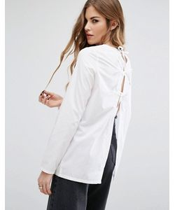 Noisy May | Рубашка Со Шнуровкой На Спине