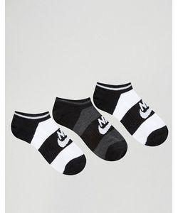 Nike | 3 Пары Черно-Белых Носков No Show