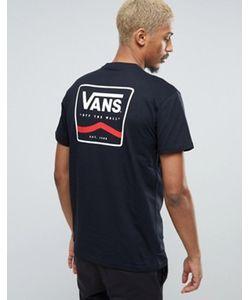 Vans | Черная Футболка С Принтом На Спине Va2x4tblk