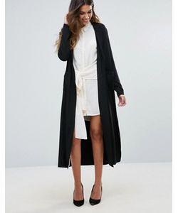 Unique 21 | Пальто Без Подкладки С Поясом Сзади И Разрезами По Бокам Unique