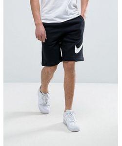 Nike | Черные Трикотажные Шорты С Большим Логотипом 843520-010