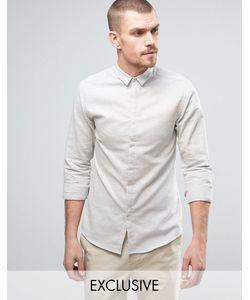 Noak | Приталенная Рубашка С Маленьким Воротником