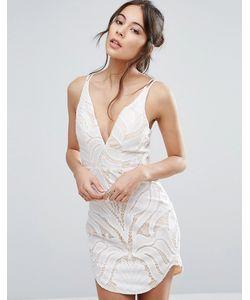 Love Triangle   Кружевное Платье С Глубоким Вырезом