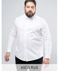 Asos | Приталенная Саржевая Рубашка Plus