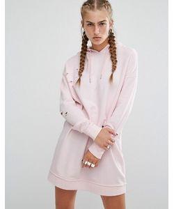 Hoxton Haus | Нежно-Розовое Платье-Футболка