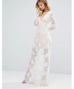 MAJORELLE | Платье Макси Цвета Слоновой Кости