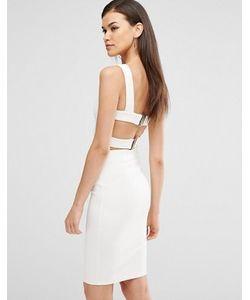 Lavish Alice   Облегающее Платье Миди С Отделкой Лямками