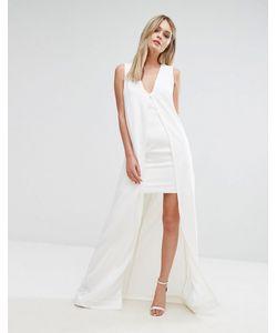 Lavish Alice   Облегающее Платье С Верхним Слоем В Стиле Кейп