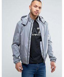 ARMANI JEANS | Серая Непромокаемая Куртка Со Съемным Капюшоном