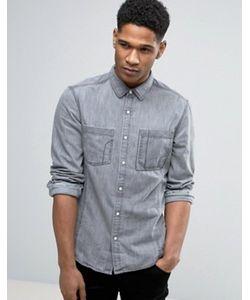 Esprit | Узкая Джинсовая Рубашка С Длинными Рукавами
