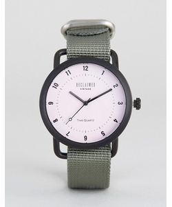 Reclaimed Vintage | Часы С Серым Парусиновым Ремешком