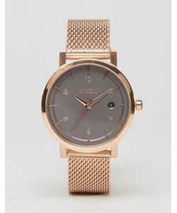 Nixon   Часы С Сетчатым Ремешком Цвета Розового Золота Rollo 38