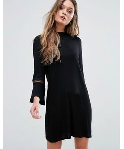 boohoo | Flute Sleeve Shift Dress