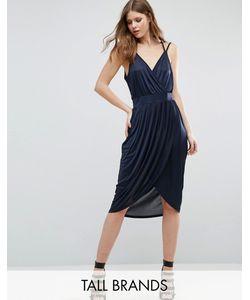 Vero Moda Tall | Платье С Запахом И Драпировкой Спереди