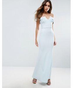 Club L | Платье Макси С Открытыми Плечами И Подолом Годе Bridesmaid