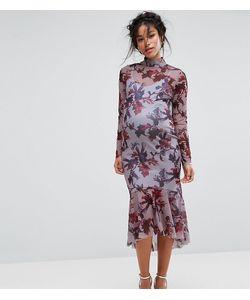 Hope and Ivy Maternity   Платье С Длинными Рукавами И Цветочным Принтом Hope Ivy Maternity