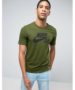 Nike SB   Зеленая Футболка С Логотипом 821946-331