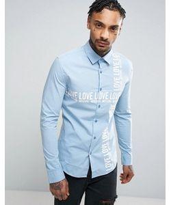 Love Moschino | Узкая Рубашка С Текстовым Принтом