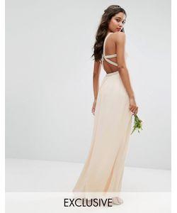 TFNC | Платье Макси С Бретельками Сзади И Отделкой Wedding