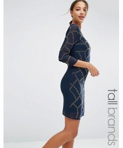 Maya Tall | Цельнокройное Платье С Отделкой