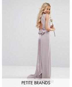 TFNC Petite | Платье Макси С Высоким Воротом И Бантом Сзади Wedding