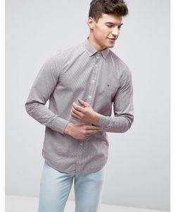 Tommy Hilfiger | Рубашка Слим На Пуговицах С Принтом Brian