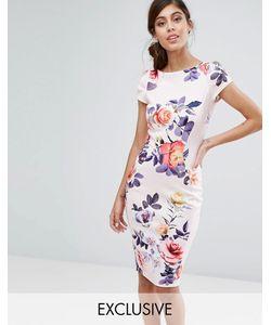 Closet London | Платье-Футляр С Короткими Рукавами И Принтом Closet