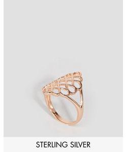 Lavish Alice | Покрытое Розовым Золотом Серебряное Кольцо С Отделкой Соты