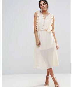 d.Ra | Платье Янтарного Цвета С Оборками
