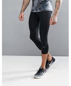 Nike Training   Черные Компрессионные Леггинсы 3/4 Hypercool 801225-010
