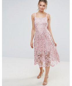 Body Frock | Кружевное Платье С Волнистым Краем Bodyfrock