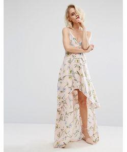 boohoo | Платье С Цветочным Принтом И Асимметричным Краем