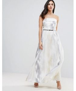 Little Mistress | Платье Макси Из Органзы С Вышивкой