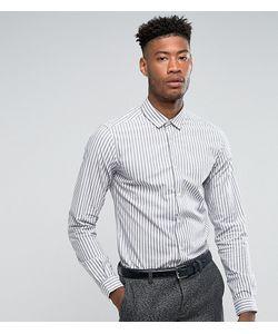 Asos | Облегающая Эластичная Рубашка В Полоску Tall