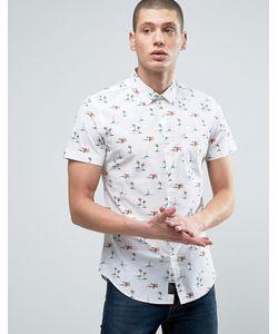 Threadbare | Рубашка С Пальмовым Принтом