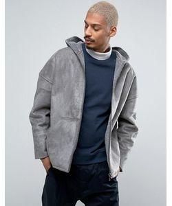 Asos | Двусторонняя Куртка Из Искусственного Меха С Капюшоном