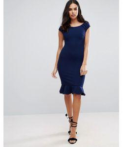 Jessica Wright | Платье Миди С Баской