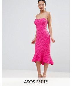 ASOS PETITE | Lace Bandeau Pephem Dress