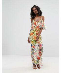 boohoo | Платье Макси С Цветочным Принтом