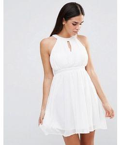 Club L | Шифоновое Платье Со Складками