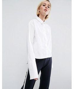 Asos | Укороченная Хлопковая Рубашка С Широкими Манжетами