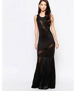Key Collections   Платье Макси С Прозрачными Вставками Ashley Roberts Специально Для