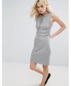 Greylin | Платье В Рубчик С Вырезом Freija
