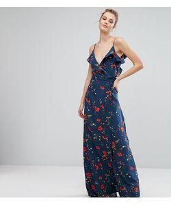 Fashion Union Tall   Платье На Бретельках С Открытыми Плечами Оборкой И Принтом Fashion Union